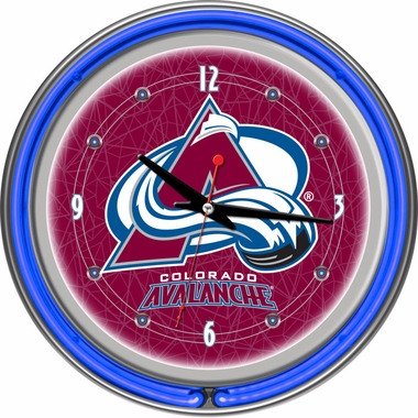 Colorado Avalanche 14 Inch Neon Clock