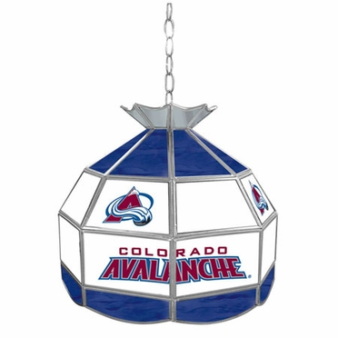 Colorado Avalanche 16 Inch Diameter Stained Glass Pub Light