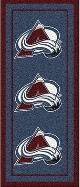 "Colorado Avalanche 2'1"" x 7'8"" Premium Runner Rug"