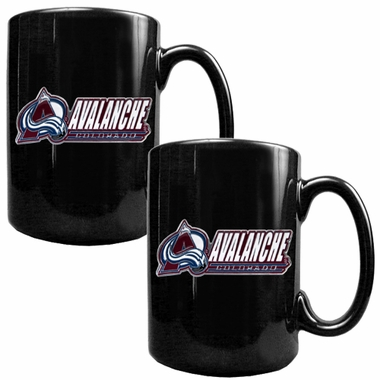 Colorado Avalanche 2 Piece Coffee Mug Set (Wordmark)