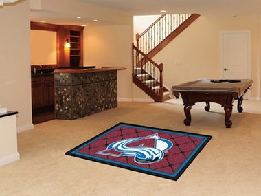 Colorado Avalanche 4 Foot x 6 Foot Rug