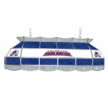 Colorado Avalanche 40 Inch Rectangular Stained Glass Billiard Light