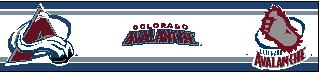 Colorado Avalanche 5.5 Inch (Height) Wallpaper Border