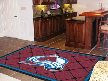 Colorado Avalanche 5 Foot x 8 Foot Rug