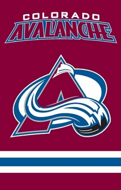 Colorado Avalanche Applique Banner Flag