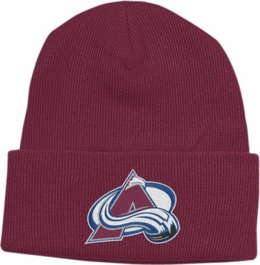 Colorado Avalanche Basic Logo Maroon Cuffed Knit Hat