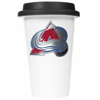 Colorado Avalanche Ceramic Travel Cup (Black Lid)