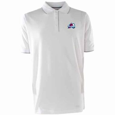 Colorado Avalanche Mens Elite Polo Shirt (Color: White)