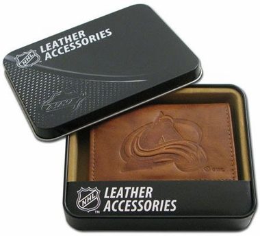 Colorado Avalanche Embossed Leather Trifold Wallet
