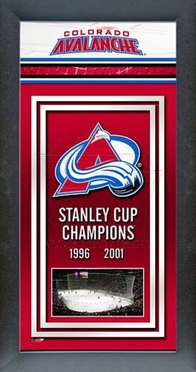 Colorado Avalanche Framed Championship Banner