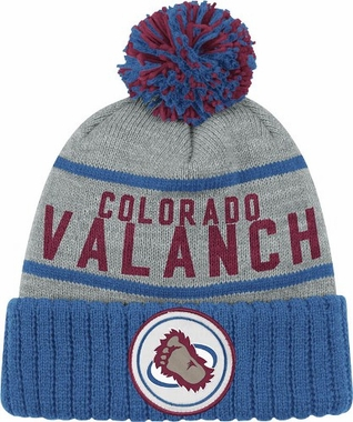 Colorado Avalanche High 5 Vintage Cuffed Pom Hat