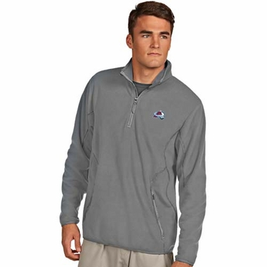 Colorado Avalanche Mens Ice Polar Fleece Pullover (Color: Gray)