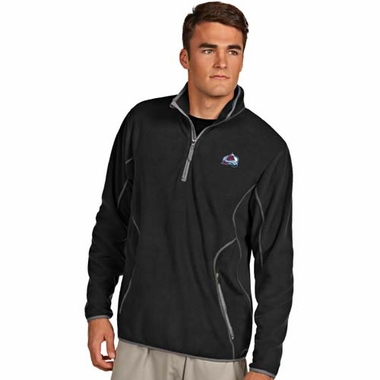 Colorado Avalanche Mens Ice Polar Fleece Pullover (Color: Black)