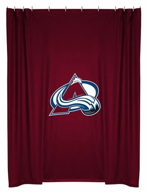 Colorado Avalanche Jersey Material Shower Curtain