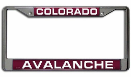 Colorado Avalanche Laser Etched Chrome License Plate Frame