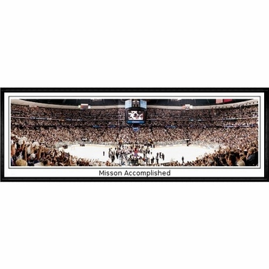 Colorado Avalanche Mission Accomplished Framed Panoramic Print