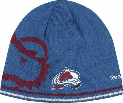 Colorado Avalanche Oversized Logo Reversible Cuffless Knit Player Hat