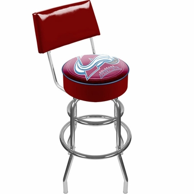 Colorado Avalanche Padded Bar Stool with Back