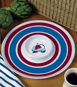 Colorado Avalanche Plastic Chip and Dip Plate
