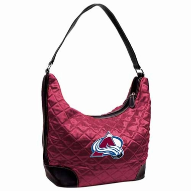 Colorado Avalanche Quilted Hobo Purse
