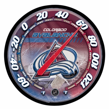 Colorado Avalanche Round Wall Thermometer