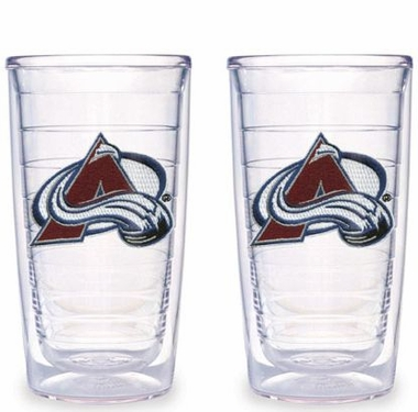 Colorado Avalanche Set of TWO 16 oz. Tervis Tumblers
