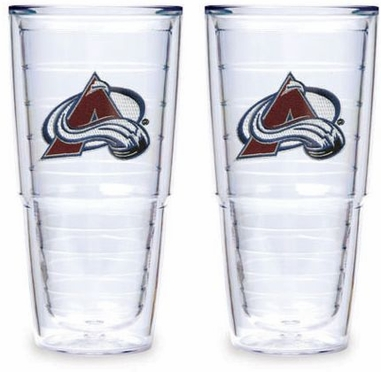 "Colorado Avalanche Set of TWO 24 oz. ""Big T"" Tervis Tumblers"