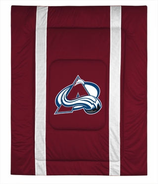 Colorado Avalanche SIDELINES Jersey Material Comforter