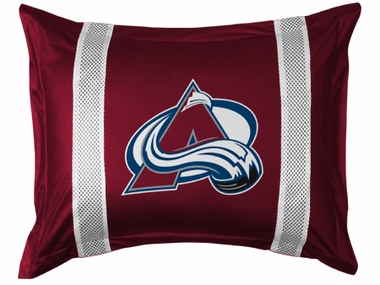 Colorado Avalanche SIDELINES Jersey Material Pillow Sham