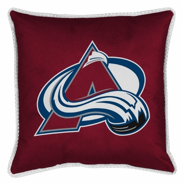 Colorado Avalanche SIDELINES Jersey Material Toss Pillow