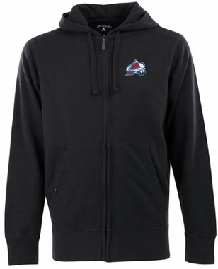 Colorado Avalanche Mens Signature Full Zip Hooded Sweatshirt (Team Color: Black)