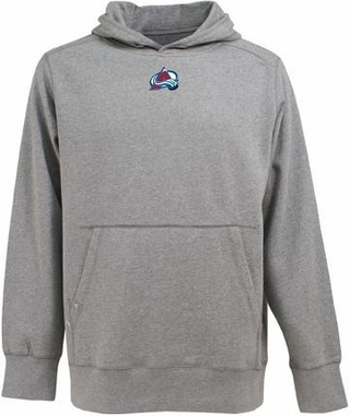Colorado Avalanche Mens Signature Hooded Sweatshirt (Color: Gray)
