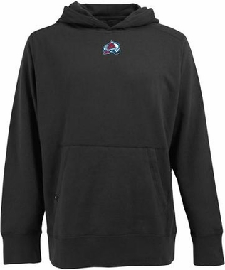 Colorado Avalanche Mens Signature Hooded Sweatshirt (Team Color: Black)