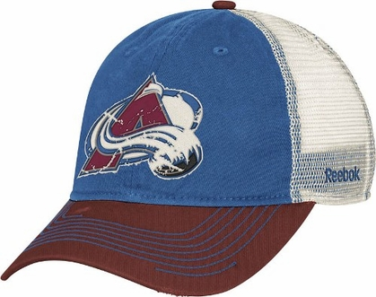 Colorado Avalanche Slouch Adjustable Meshback Distressed Hat