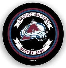Colorado Avalanche Black Tire Cover - Standard Size