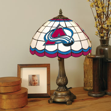 Colorado Avalanche Stained Glass Table Lamp