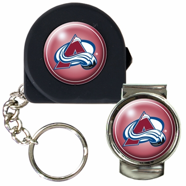 Colorado Avalanche Tape Measure Key Chain and Money Clip Set