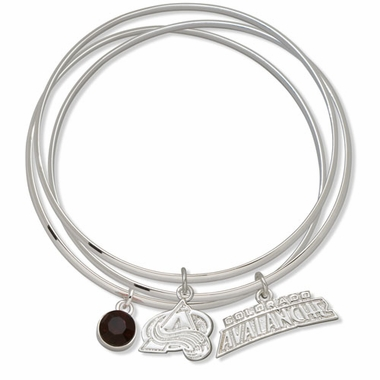 Colorado Avalanche Triple Bangle Bracelet