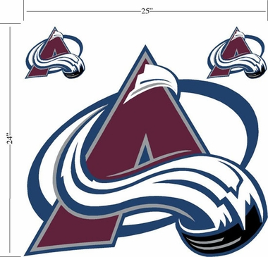 Colorado Avalanche Wallmarx Large Wall Decal