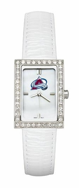 Colorado Avalanche Women's White Leather Strap Allure Watch
