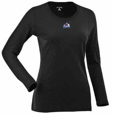 Colorado Avalanche Womens Relax Long Sleeve Tee (Team Color: Black)