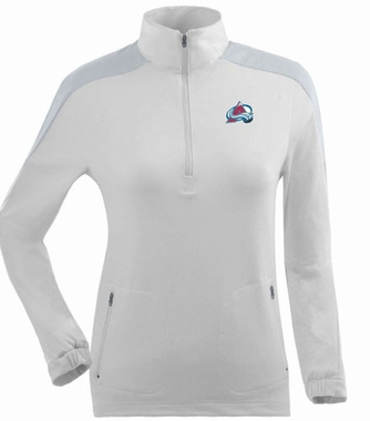 Colorado Avalanche Womens Succeed 1/4 Zip Performance Pullover (Color: White)