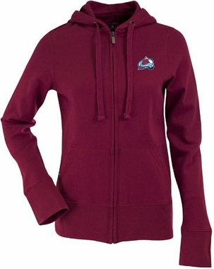 Colorado Avalanche Womens Zip Front Hoody Sweatshirt (Team Color: Maroon)