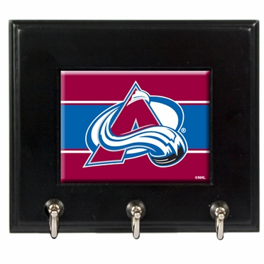 Colorado Avalanche Wooden Keyhook Rack