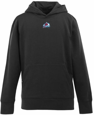 Colorado Avalanche YOUTH Boys Signature Hooded Sweatshirt (Team Color: Black)