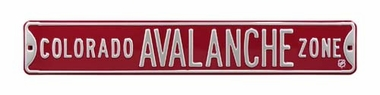 Colorado Avalanche Zone Street Sign