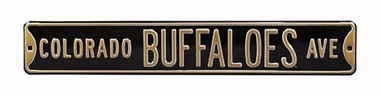 Colorado Buffaloes Ave Street Sign