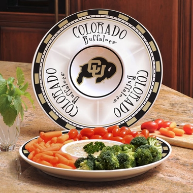 Colorado Ceramic Chip and Dip Plate