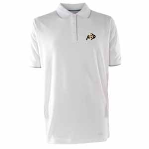 Colorado Mens Elite Polo Shirt (Color: White) - Medium
