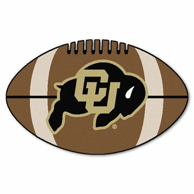 Colorado Football Shaped Rug